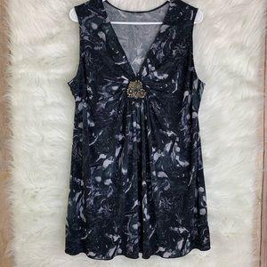 Lane Bryant Blue Sleeveless Dress Tank